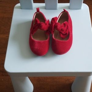 Gap toddler red party shoes